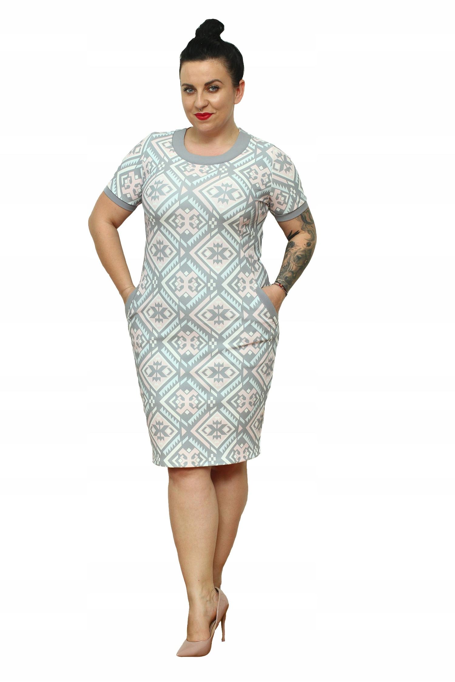 a2c6e4ecfa WYPRZEDAŻ Sukienka Tekla pastelowa orientalna 46 - 7709708891 ...