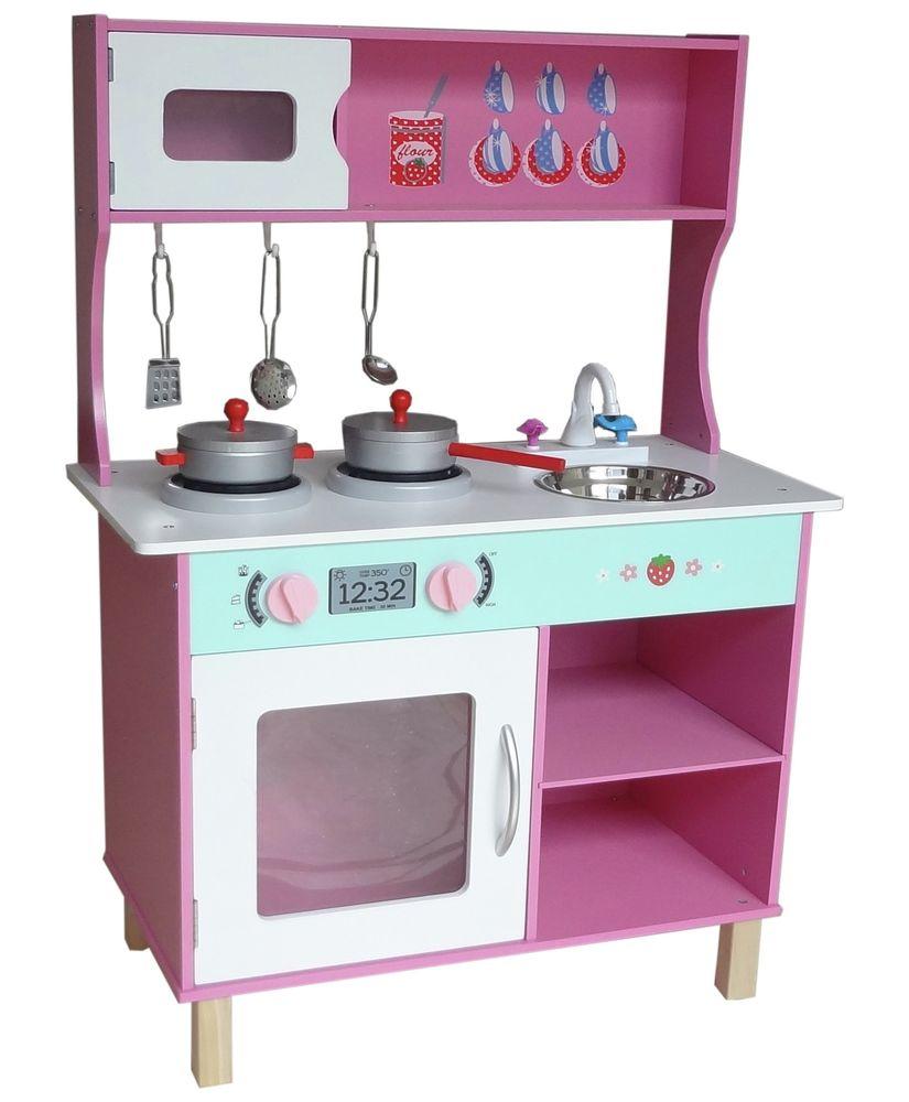 Kuchnia Dla Dzieci Duza Drewniana Bebe Style 20383