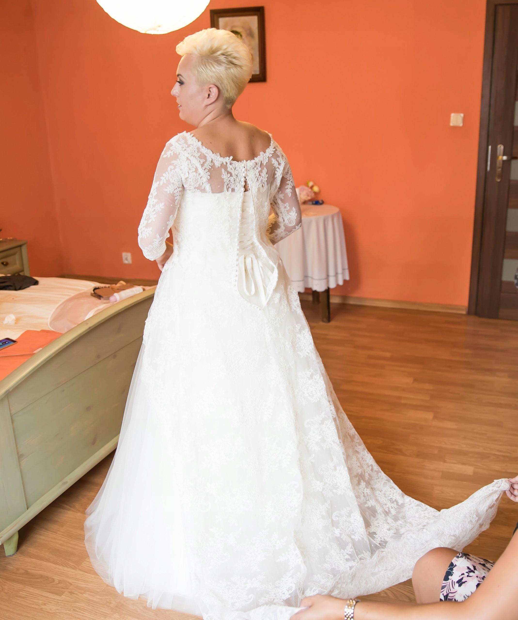 Piękna Suknia ślubna Z Trenem 7388384334 Oficjalne Archiwum Allegro