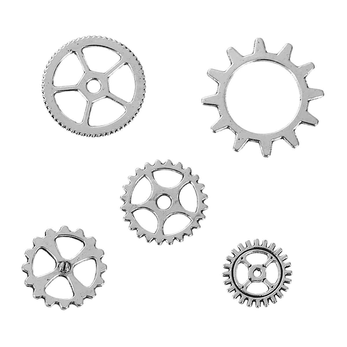 Wspaniały 5szt koła zębate trybiki, steampunk, metalowe - 7282537225 HC84