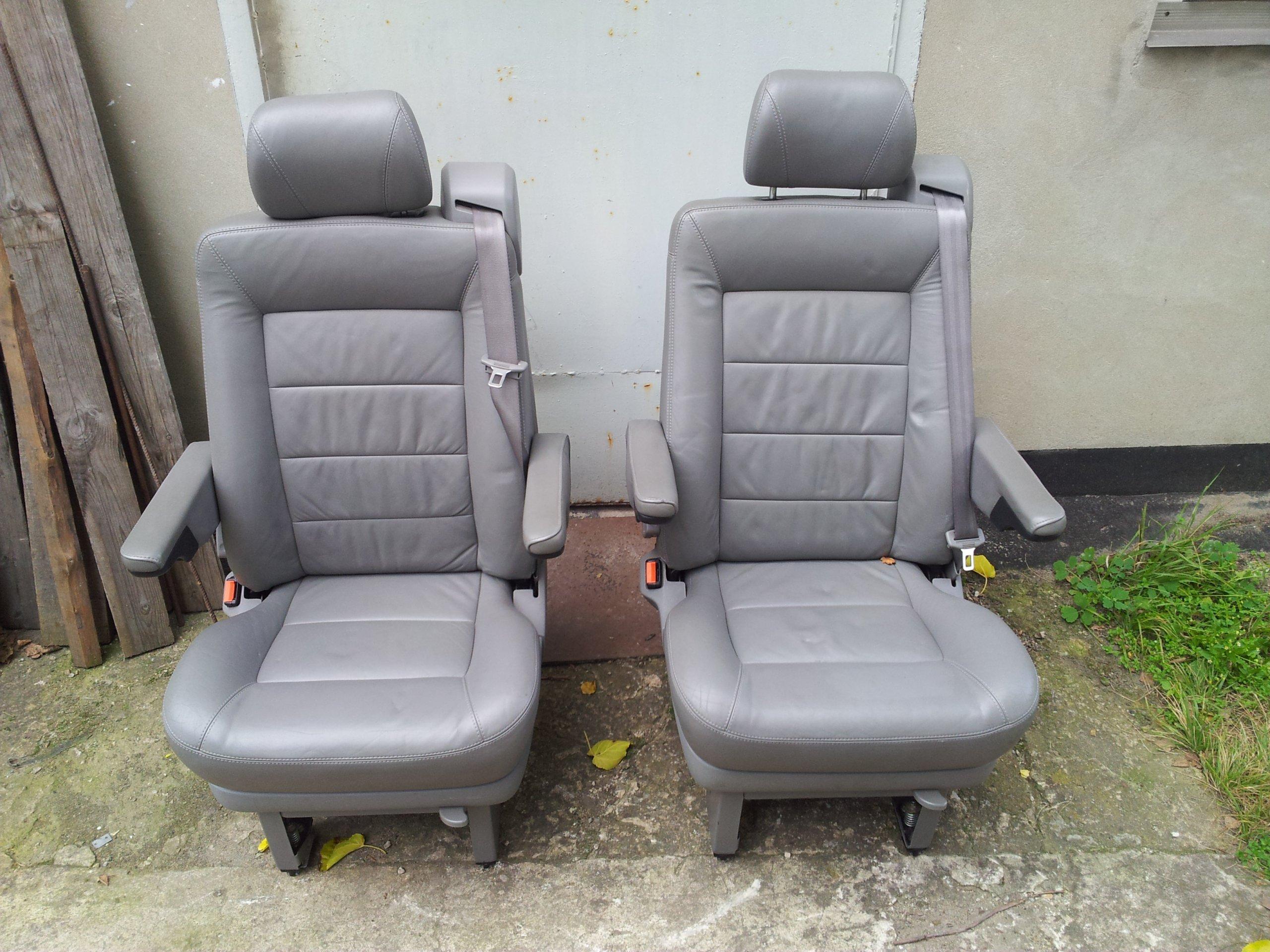Vw T4 Multivan Szyna Fotel Obrotowy Skóra Szara