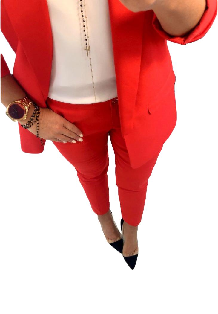 923077ec5d874a Andzela_s Spodnie Cygaretki Premium Czerwone M - 7281570596 ...
