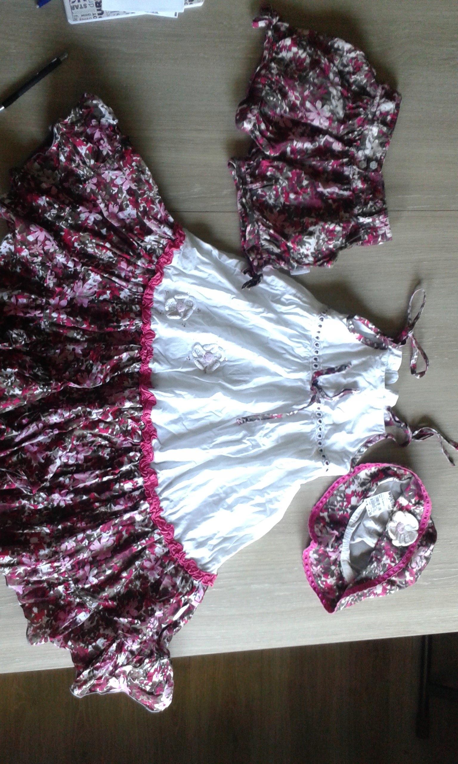 Wójcik sukienka kapelusz spodenki komplet 122