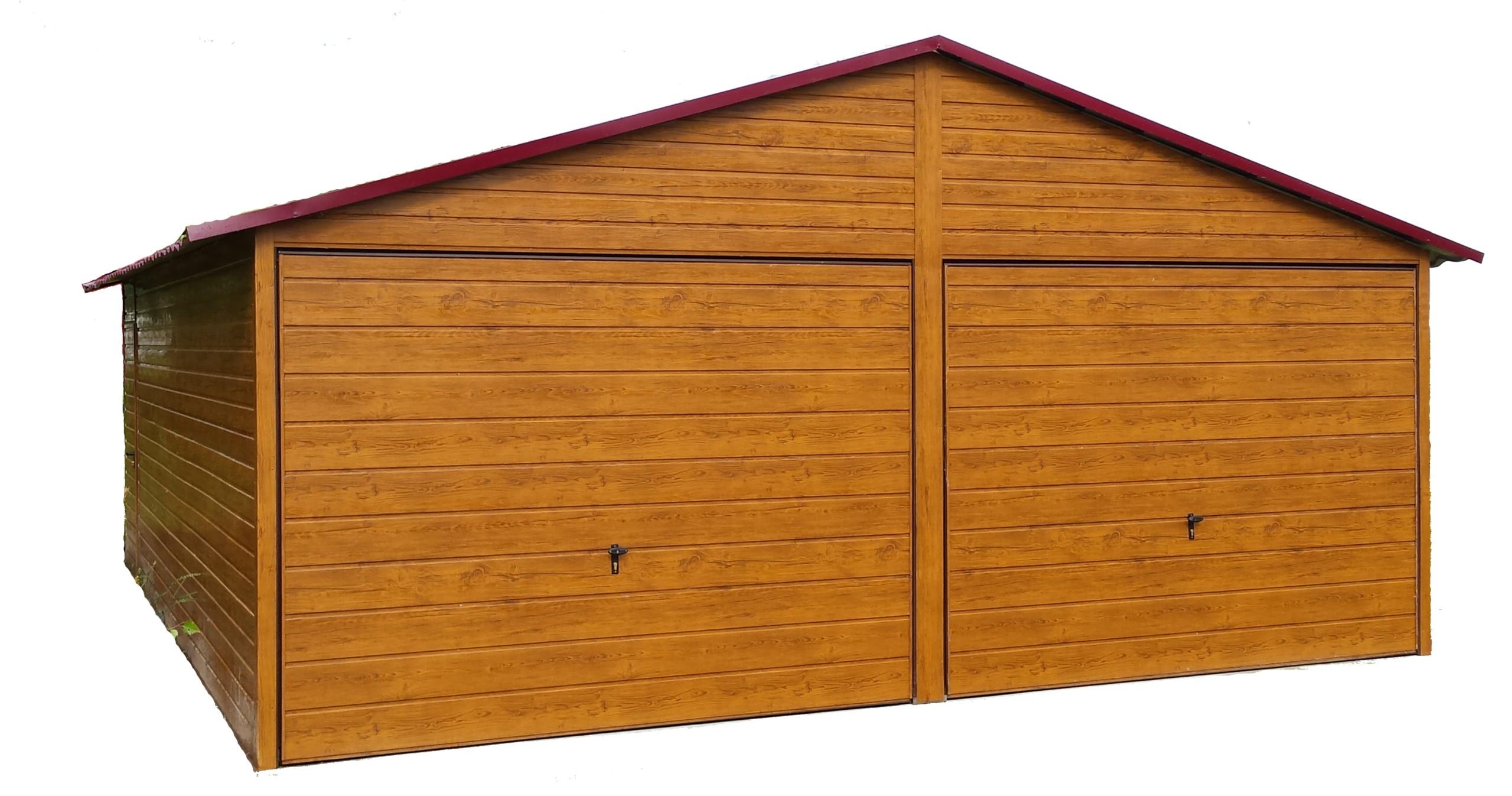 Garaż Blaszany Garaże Blaszane Drewnopodobne 6x58 7437398650