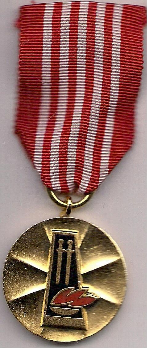 """Złoty medal R.O.P.W.i M. wersja """"cienka"""""""