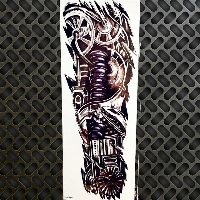 Tatuaż Zmywalny Rękaw Biomechanika Zębatki 7338938697