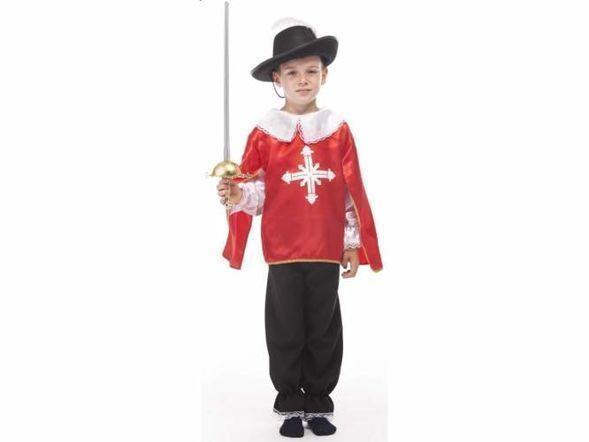 05f3cf6881b343 Muszkieter czerwony - kostium dla dzieci 140 cm - 7340145005 ...