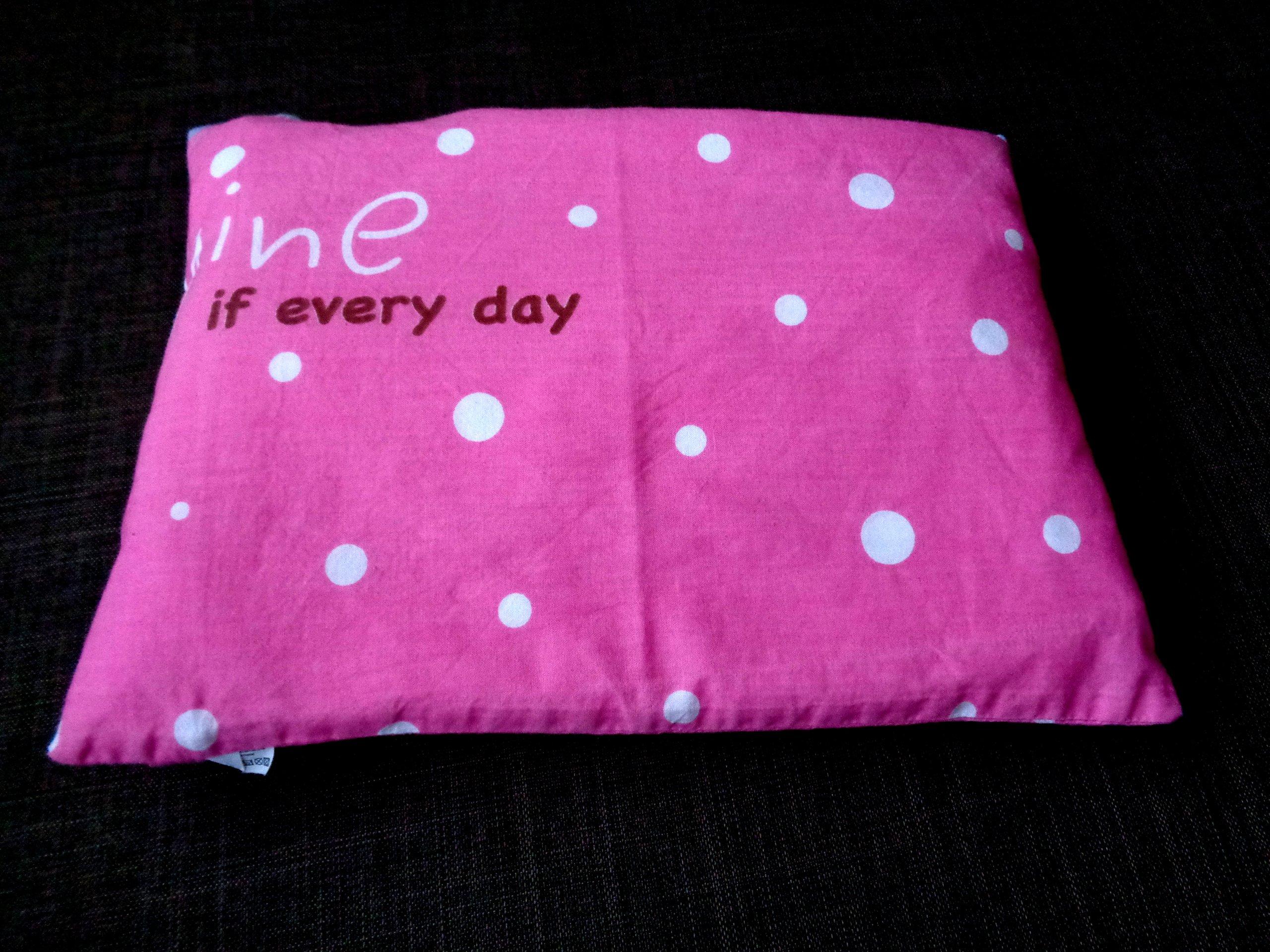 Poduszka do wózka 33/24 cm różowa dla dziewczynki
