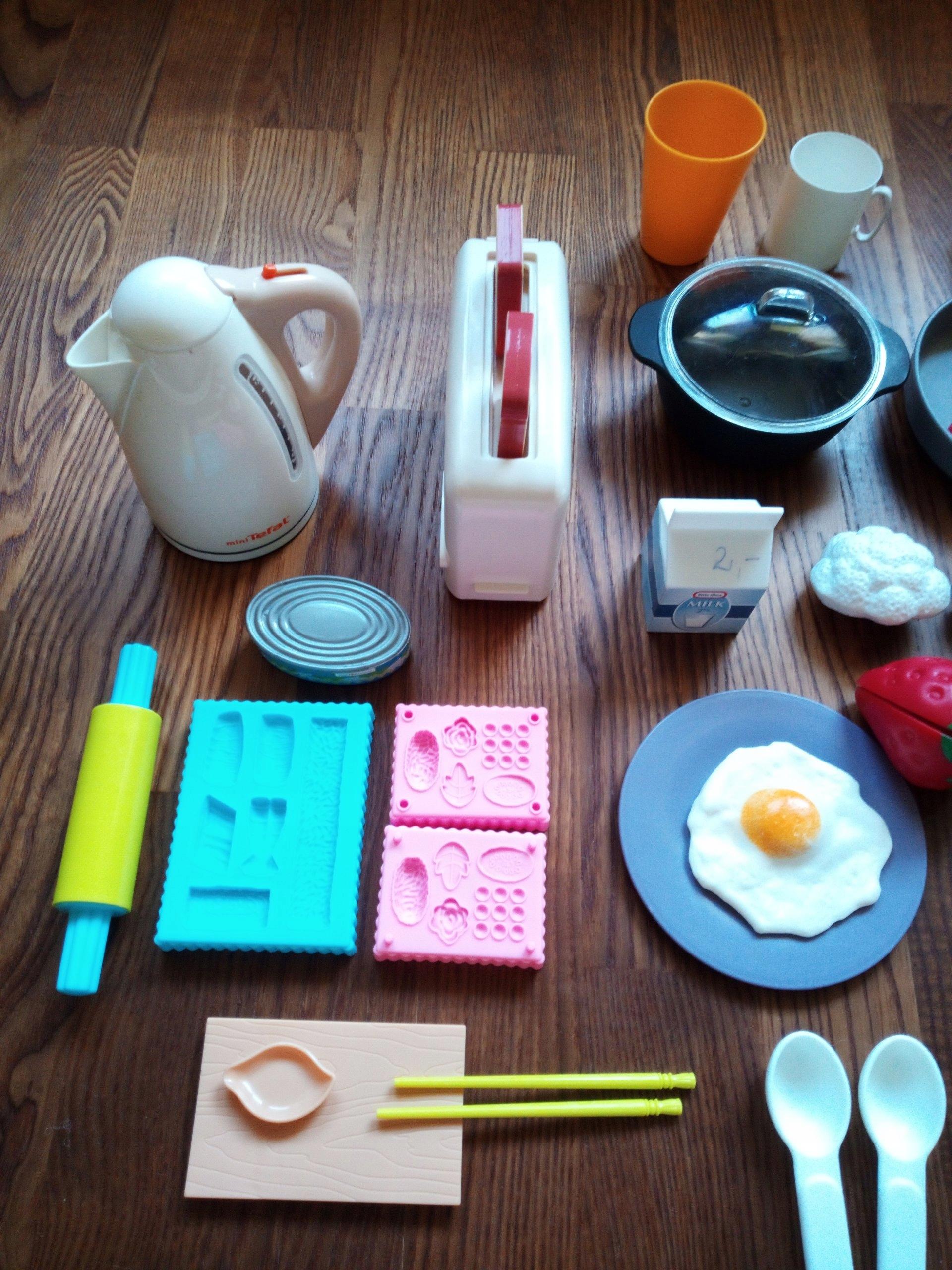przybory kuchenne, zabawki kuchenne, 46 elementów