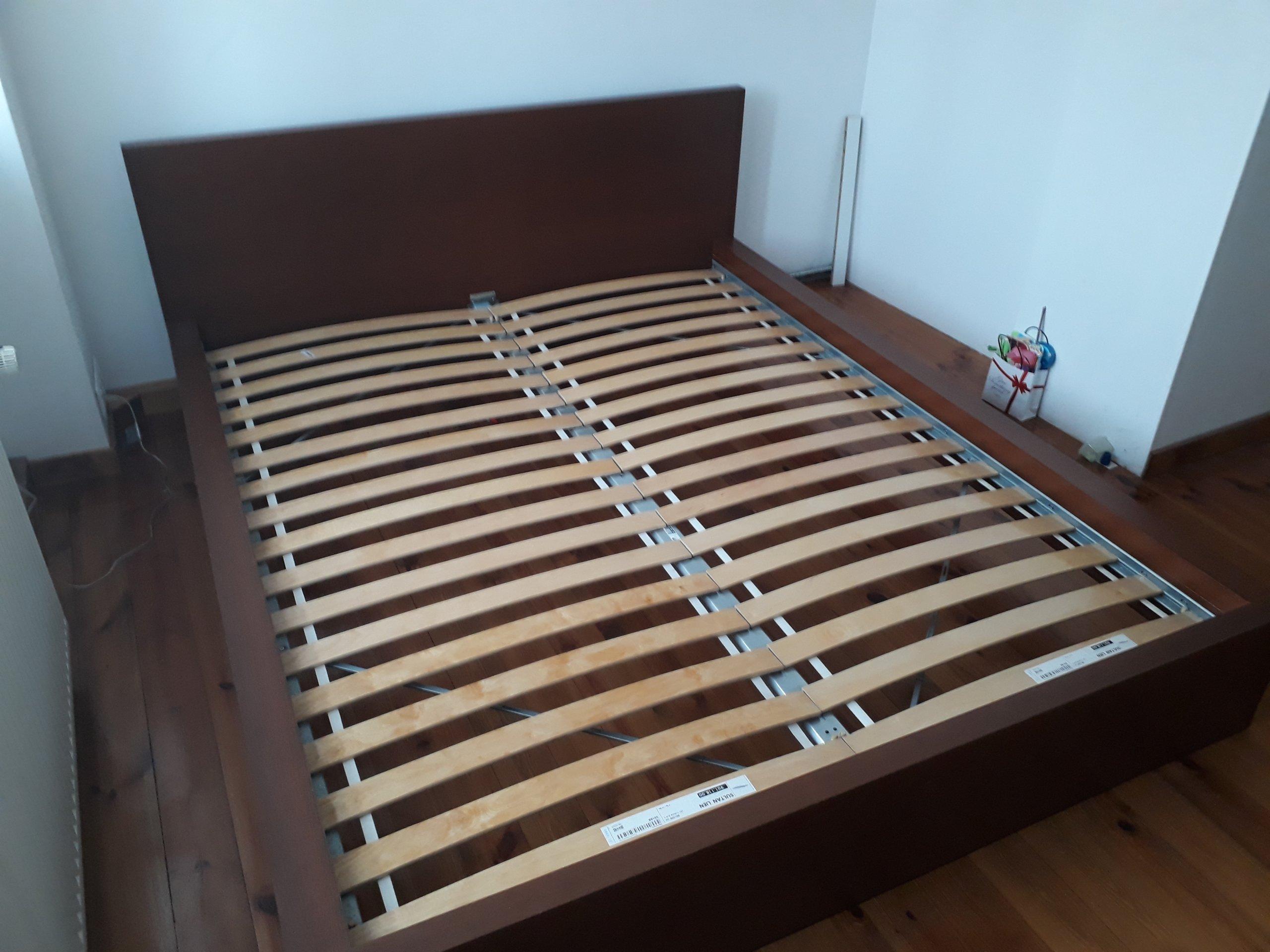 łóżko Ikea Malm Belka Hamar Dno Z Listew 7356150420