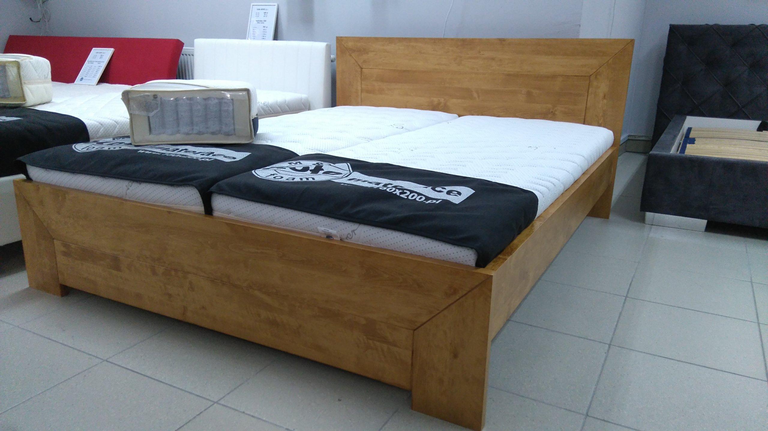 łóżko Drewniane 160x200 Wyprzedaż 30 7363228370