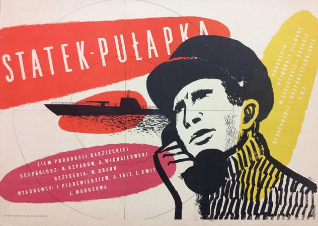 Plakat Wojciech Zamecznik Statek Pułapka 1953 7228109000