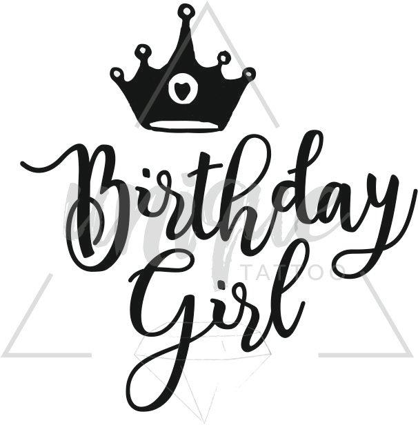 Birthday Tatuaż Korona Królowa Jest Tylko Jedna 18