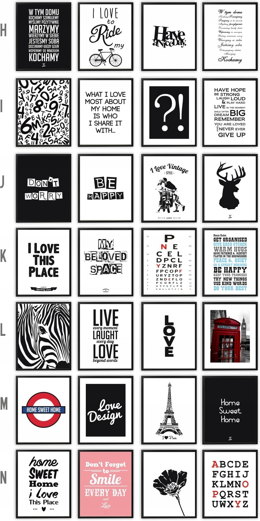 Plakaty W Ramce Plakat Ramie Z Cytatami 80 Wzorów
