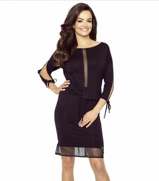 36cef4ea97 Sukienka czarna mini casual koktajlowa L   40 - 7231792748 ...