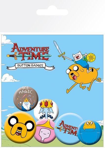 Adventure Time Jake - zestaw 6 przypinek