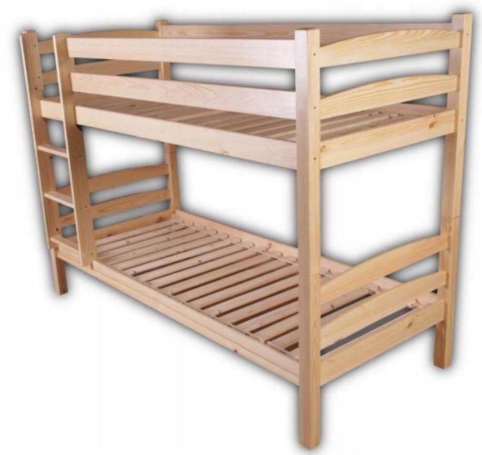 Tanie Sosnowe łóżko Piętrowe 69 Pod Materac 80x190