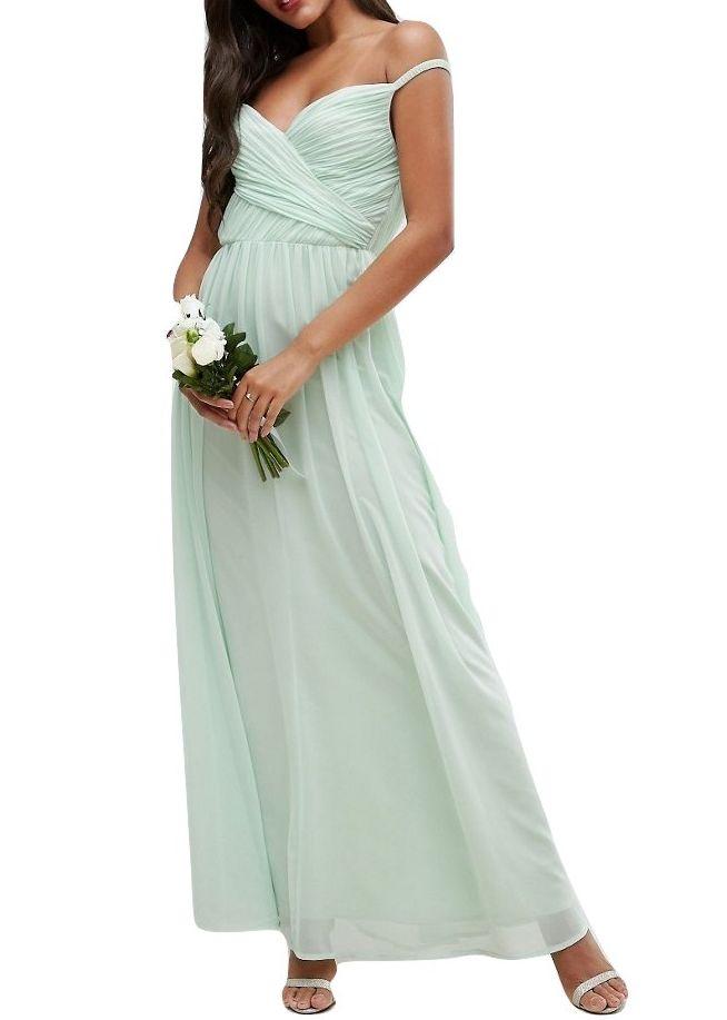 11be58c5ad6bb4 Sukienka na wesele miętowa szyfon maxi 34 XS - 7130169635 ...