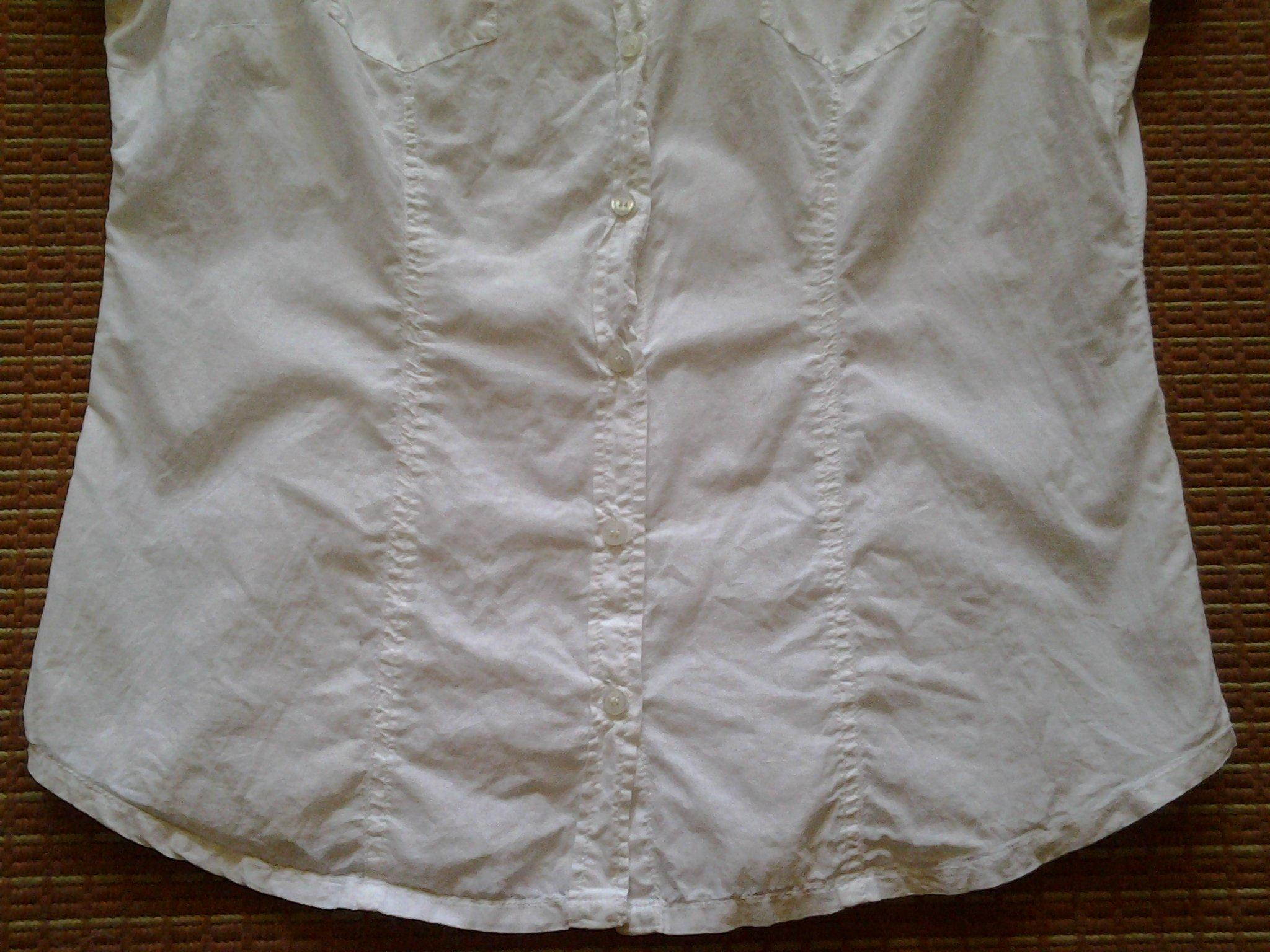 97d75199687bb4 Orsay biała bluzka koszulowa krótki rękaw - 7751241417 - oficjalne ...
