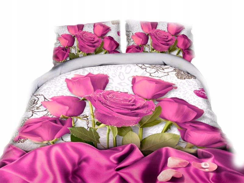 Pościel 3d 220x200 Kwiaty Róże Bukiet Premium 3cz 6777641657
