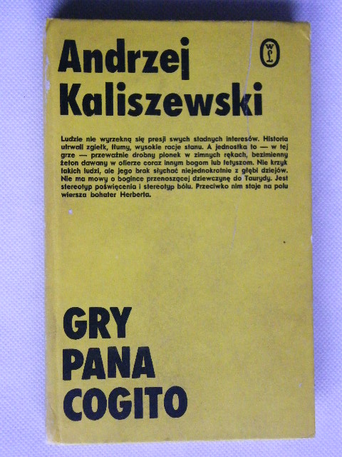 Gra Pana Cogito Andrzej Kaliszewski 7056436785 Oficjalne