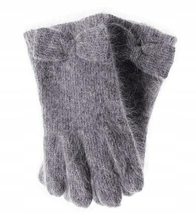 H&M rękawiczki szare angora NOWE