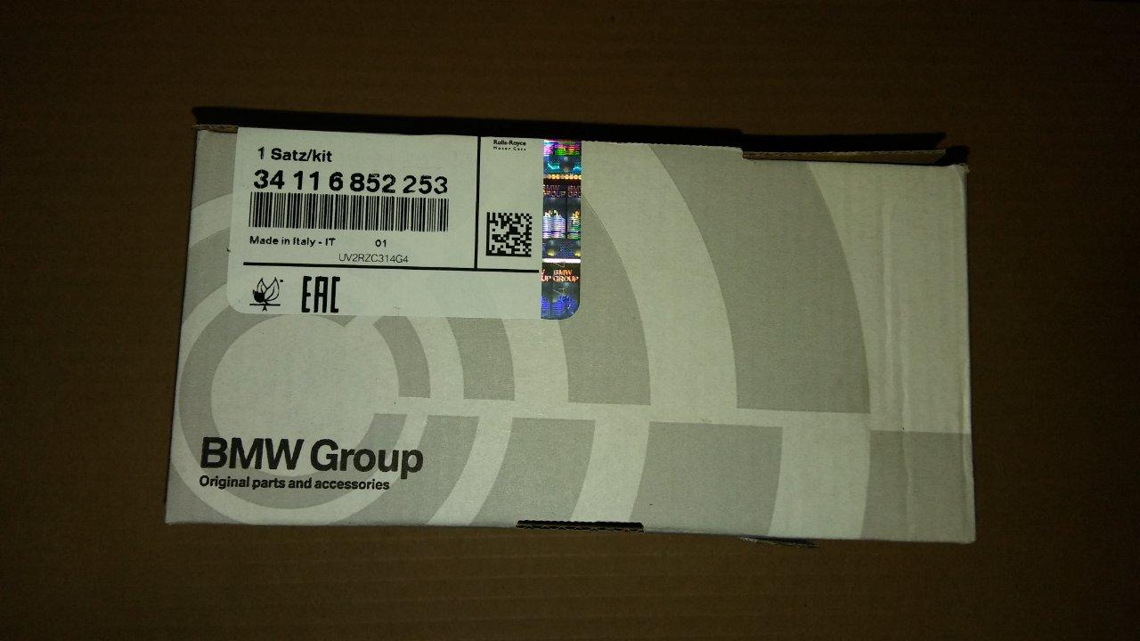 Oryginalne klocki hamulcowe BMW X5 X6 34116852253