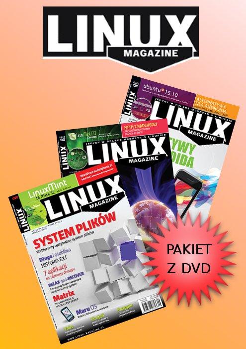 megapakiet wydań Linux Magazine z DVD