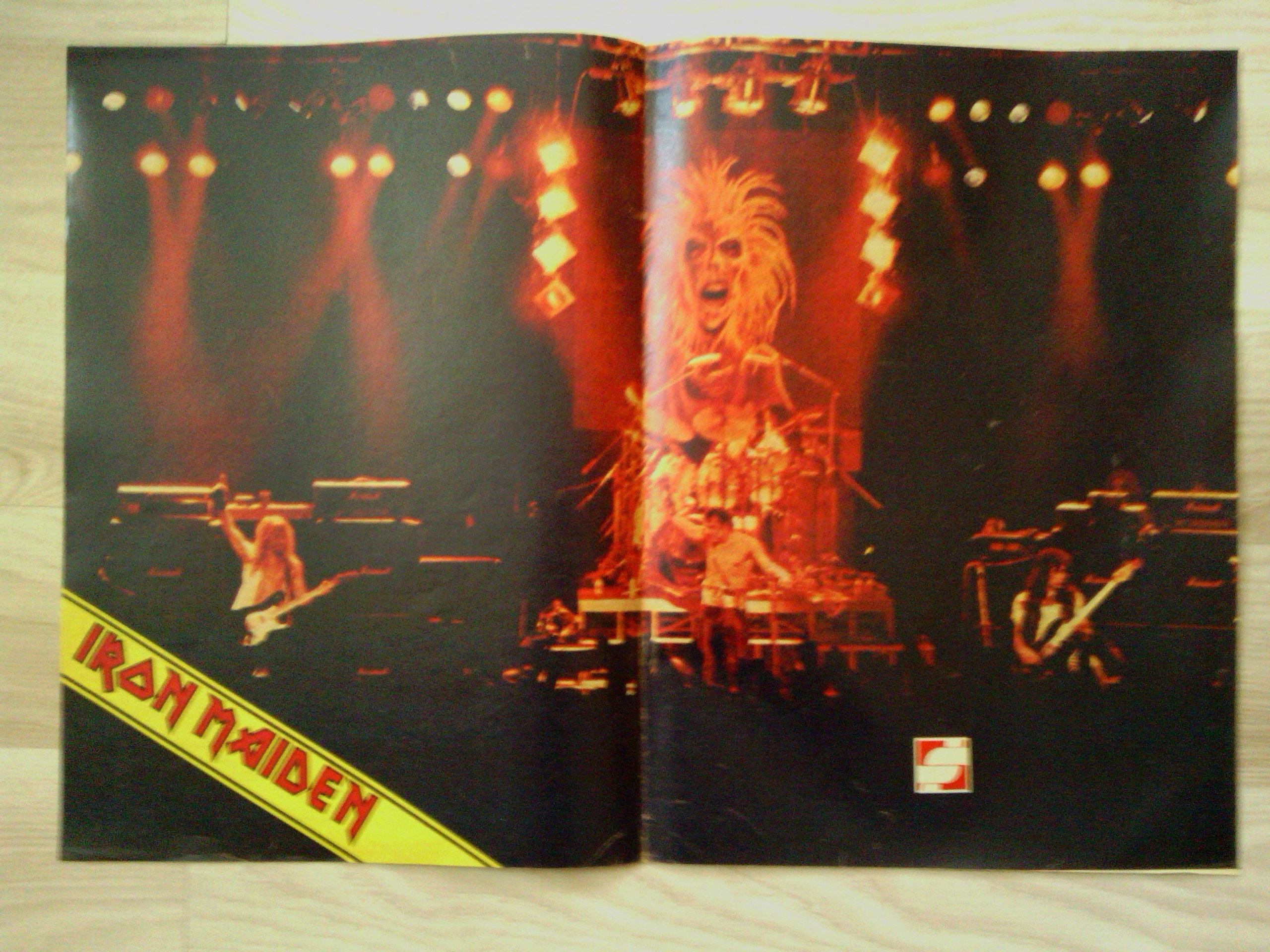 Stary Plakat Iron Maiden Gazeta Razem Nr 51983r