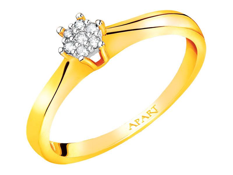 Pierścionek Zaręczynowy Apart Z Diamentem Rozm 16 7149520506