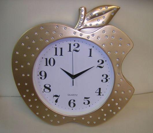Zegar dziecięcy dla dzieci złote jabłko duże cyfry