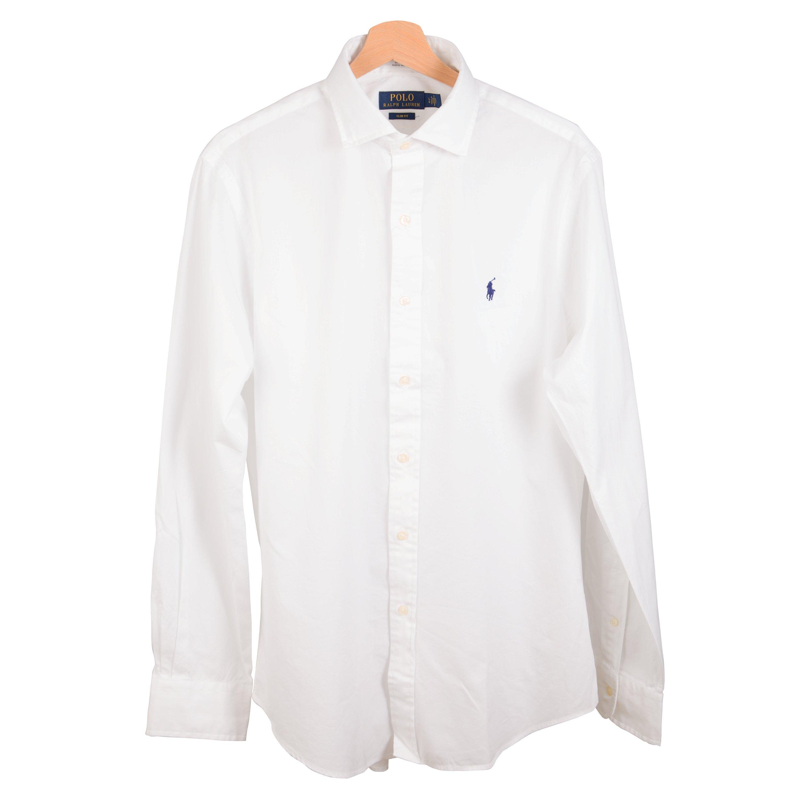 7333b41be RALPH LAUREN POLO koszula męska biała SLIM FIT XXL - 7157836053 ...