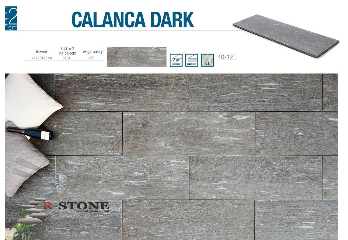 Włoskie Płyty Ceramiczne Tarasowe Calanca Dark 7161858320