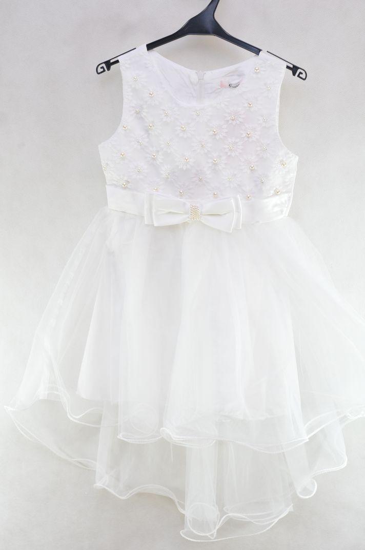 134f05baeb Sukienka wizytowa tiul wesele komunia święta 4 l - 7252162852 ...