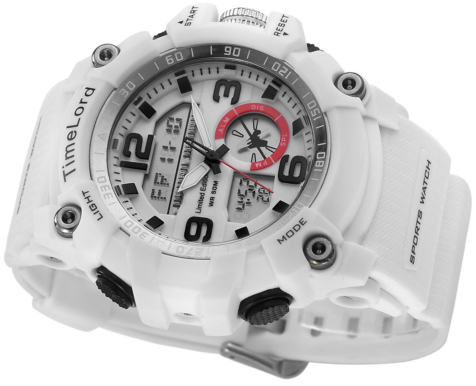 Modny Zegarek Męski Super Na Prezent Biały Święta