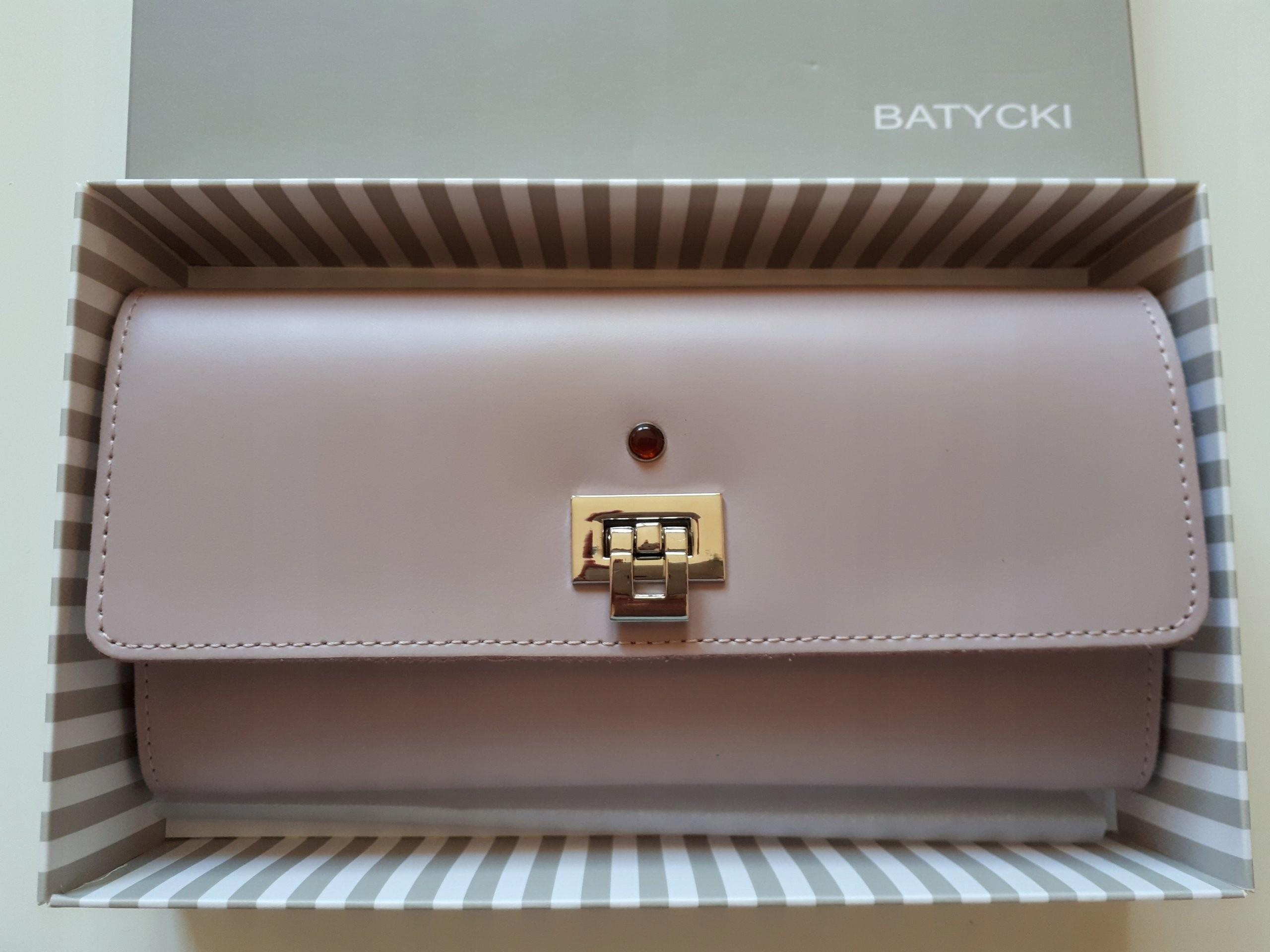 75d4c4376b7f1 Batycki portfel Duży skóra Nowy piękny - 7421159792 - oficjalne ...