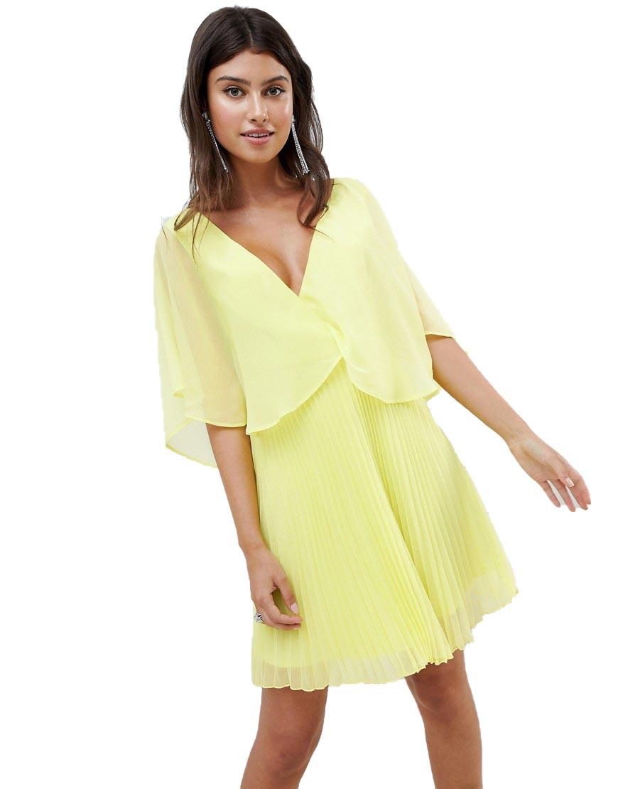 ab7e2951e6 Sukienka PLISOWANA MINI LIMONKA XS 34 - 7308373872 - oficjalne ...