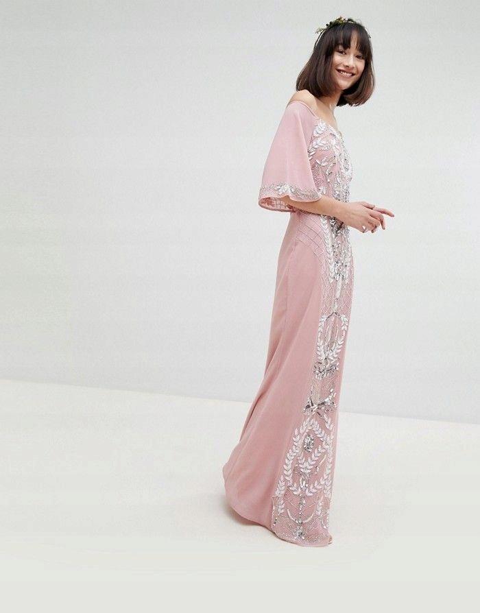 c868c83b4f MAYA Brudny róż suknia wieczorowa cekiny (44) - 7507941003 ...