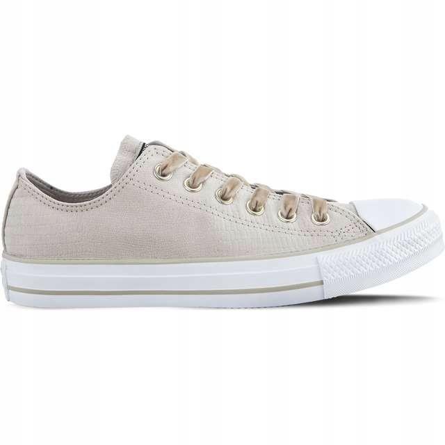 Białe Brązowy, beżowy Tekstylne Buty Vans r.40,5