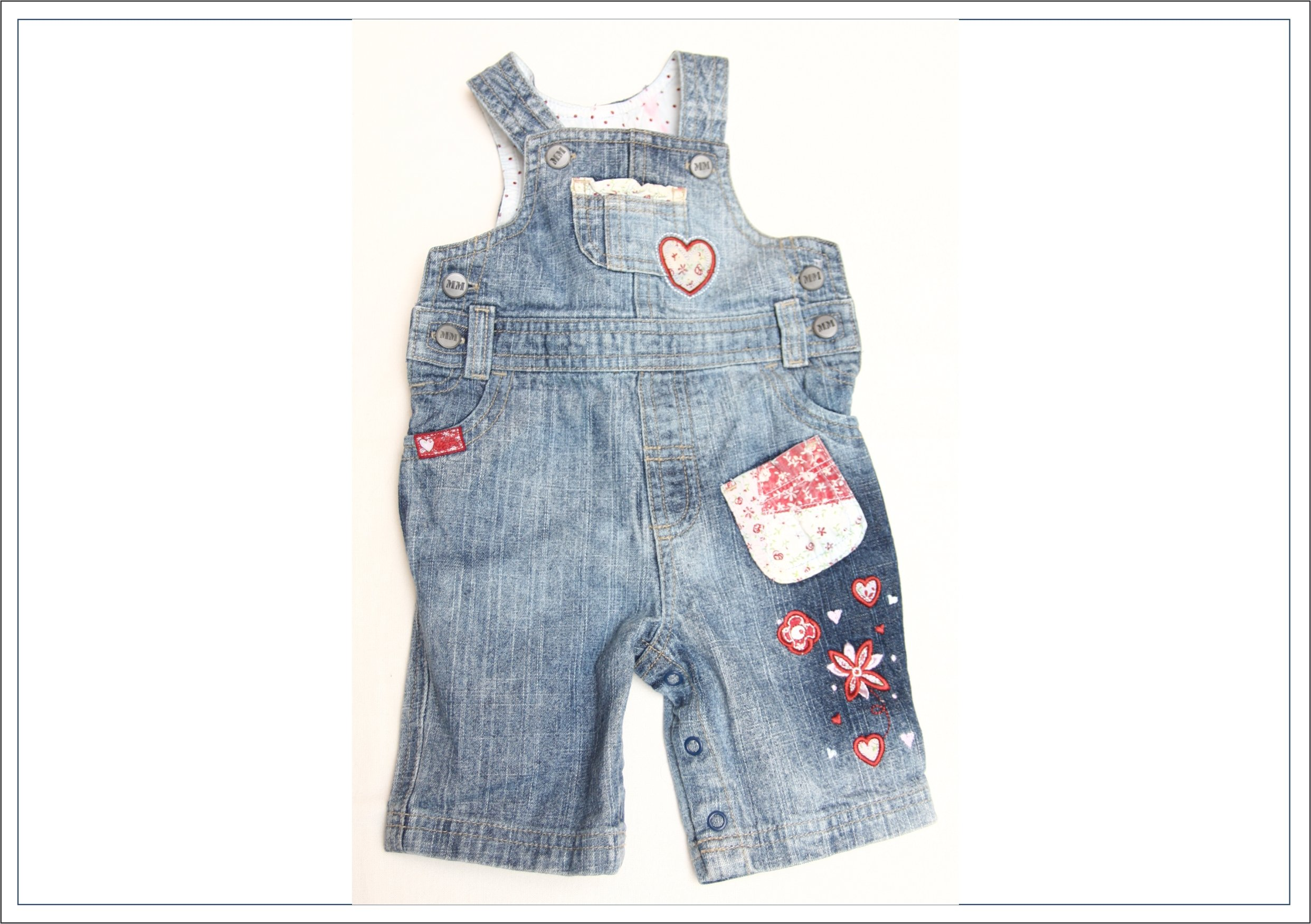 34b0b60c Spodnie jeansy ogrodniczki dla dziewczynki r.62