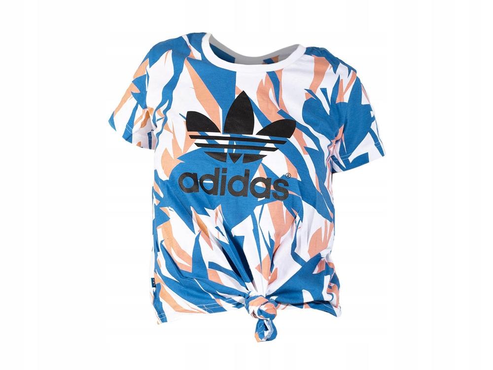 więcej zdjęć przed Sprzedaż wspaniały wygląd dziewczęca koszulka Adidas z wiązaniem S14473 LOGO ...