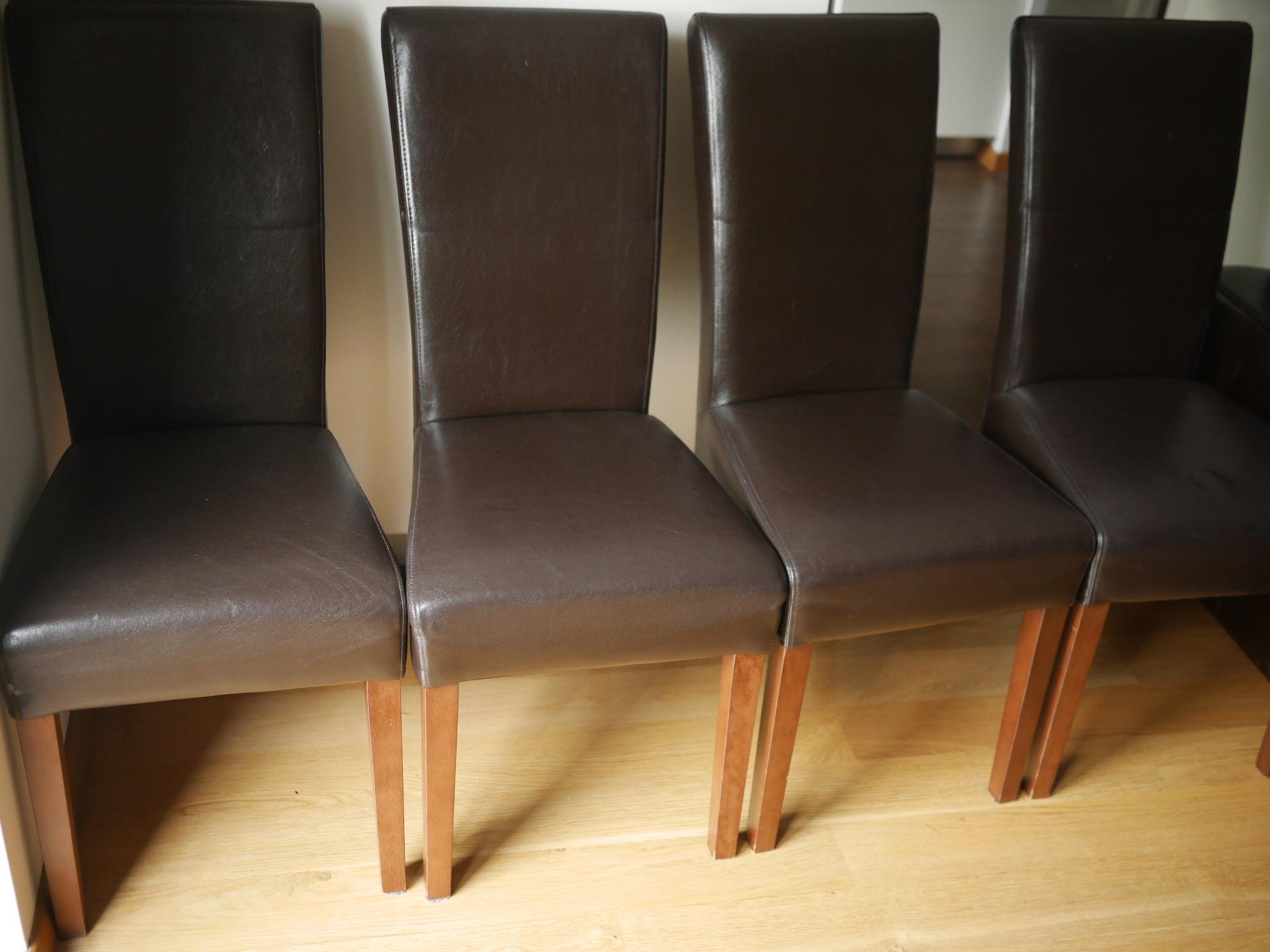 Krzesła Z Obiciem Skórzanym