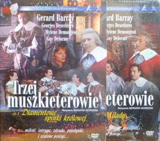 TRZEJ MUSZKIETEROWIE - 2 X DVD + KSIĄŻKA(KF)