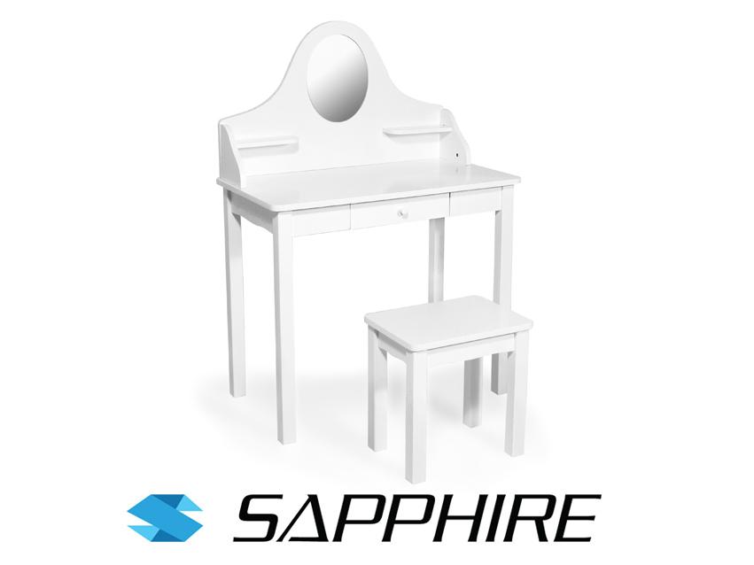 Duża Drewniana Toaletka Sapphire Dla Dziewczynki 7069285770
