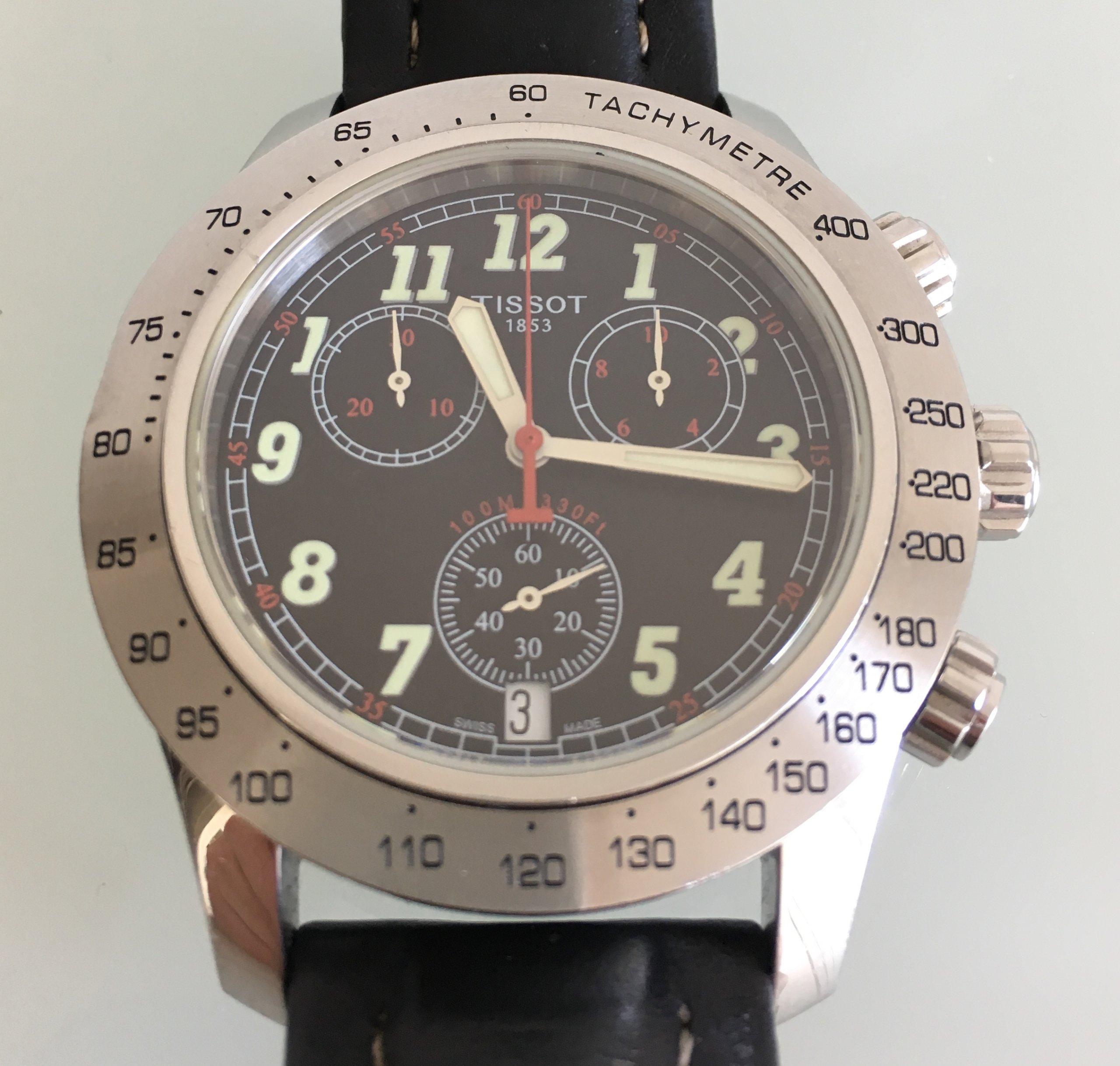 Tissot V8 zegarek z chronografem - TANIO