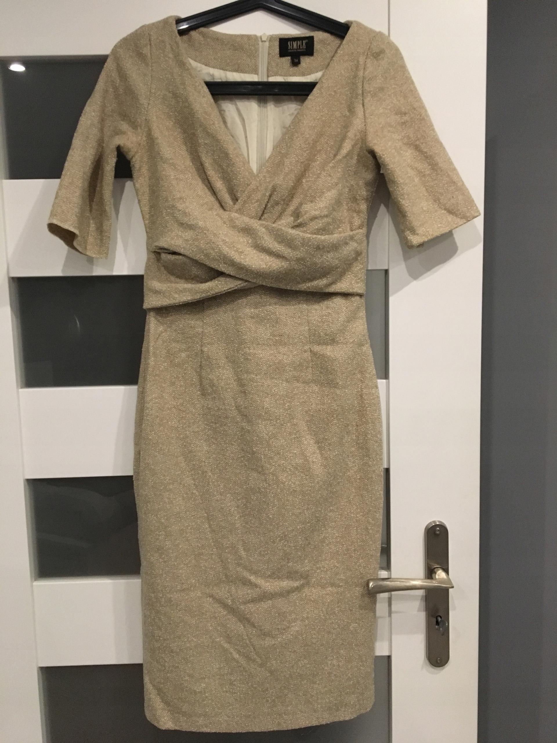 73032d2498 SIMPLE sukienka xs s - 7686226843 - oficjalne archiwum allegro