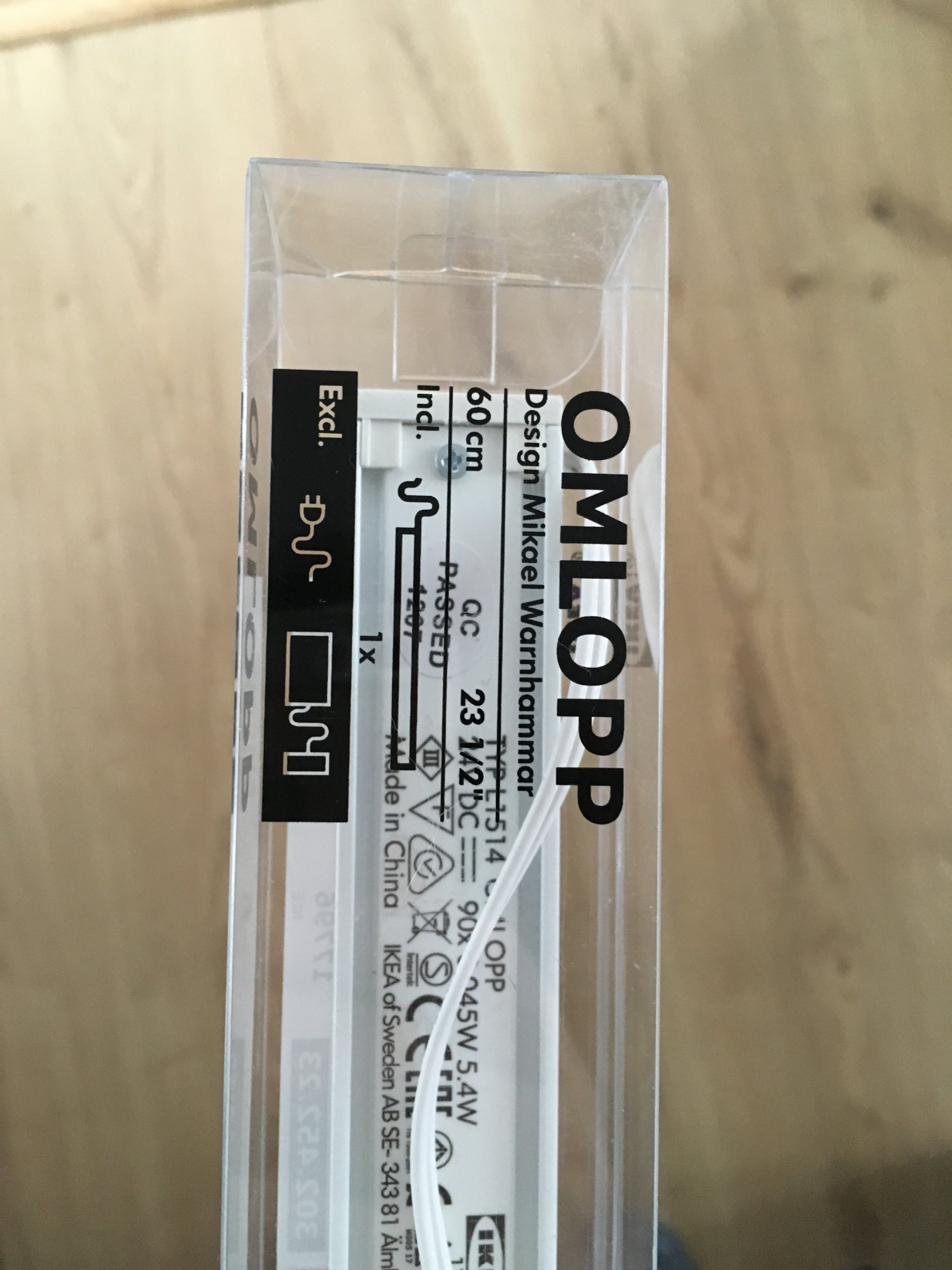 Oświetlenie Blatu Ikea Omlopp 60 Cm Nowe 7179847271