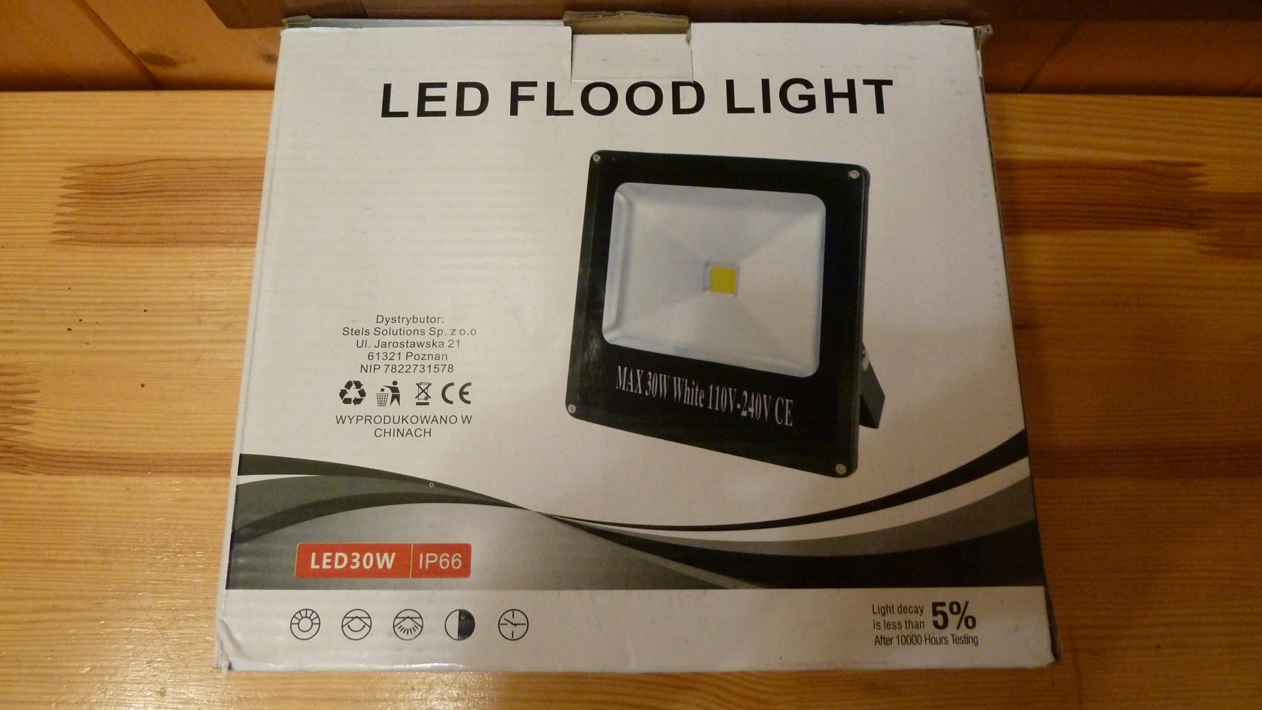 Halogen Lampa Naświetlacz Led 30w Obudowa Slim