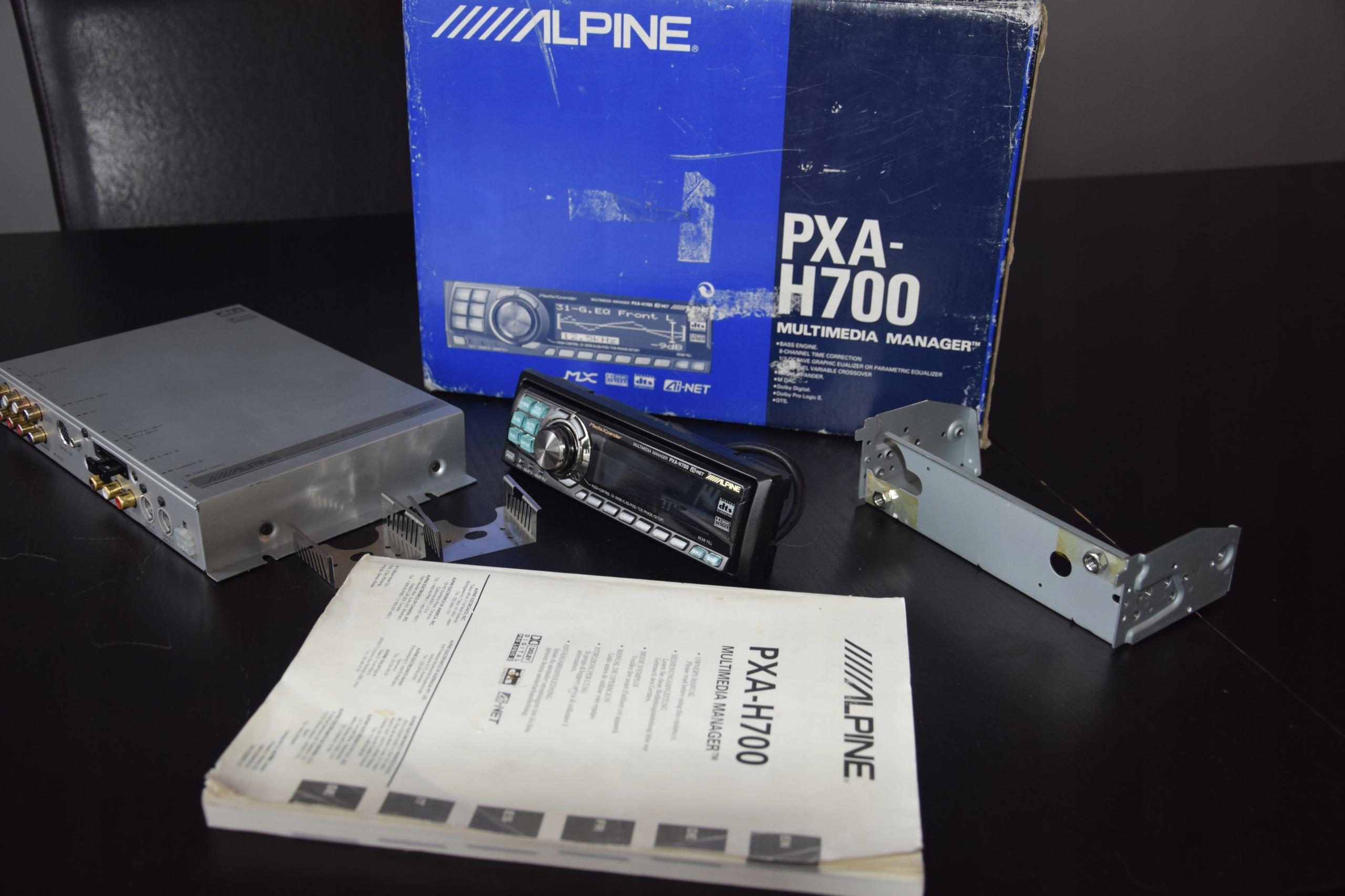 procesor dżwięku ALPINE PXA-H700 + RUX h700