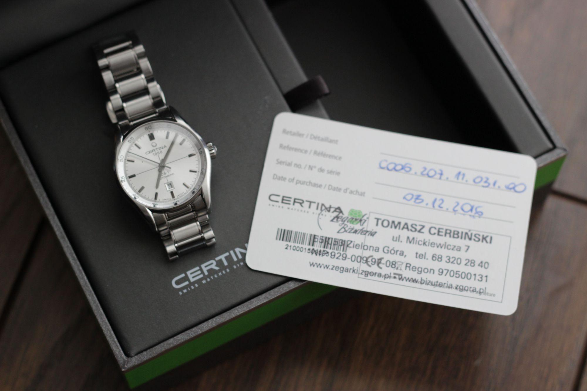 Zegarek Damski Certina DS-1